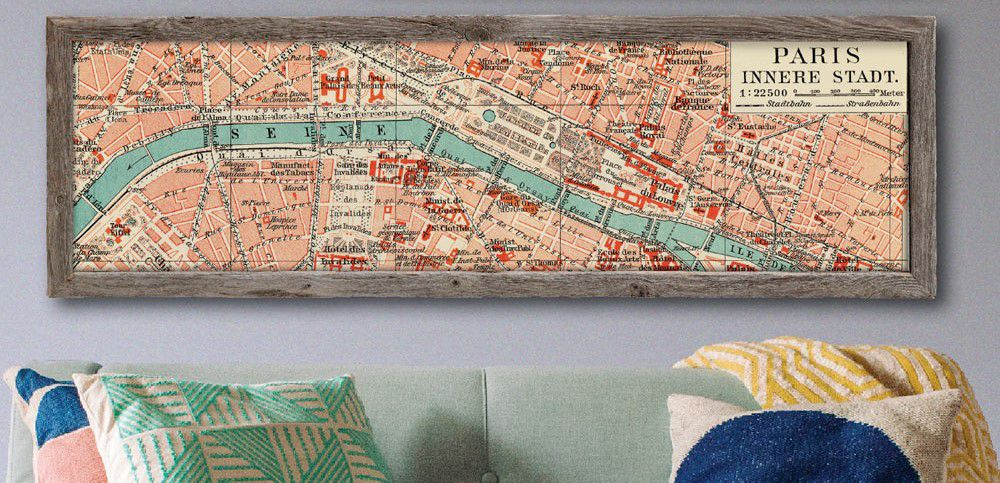 map in barnwood limited editions frame