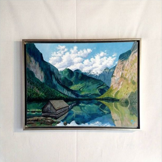 Catherine Freshley Bavarian Alps Silver Floater Frame